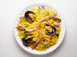 Постер, плакат: seafood paella rice