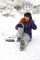 Unfallgefahr auf winterlichen Straßen