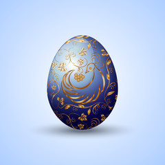 Vector illustration of painted Eastern egg