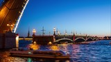 4k TimeLapse, open Trinity bridge, Saint-Petersburg, Russia
