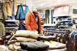 Leinwanddruck Bild - interior of  fashion clothes store