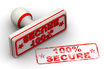 100% SECURE. Seal and imprint