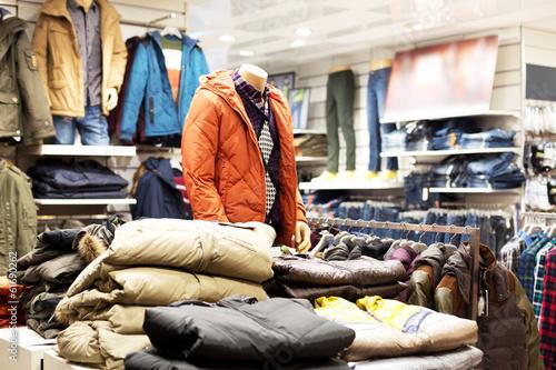 Leinwanddruck Bild interior of  fashion clothes store
