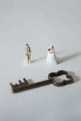 ミニチュアで再現した結婚式