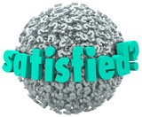 Satisfied Pleased Content Pleasure Word Question Mark Sphere poster