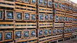 Electrical Insulators on Pallets Dolly