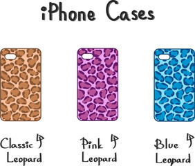 Vector - Leopard Print iPhone cases
