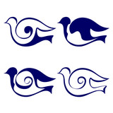 Bird icon set vector  illustration