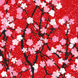 Spring theme floral background