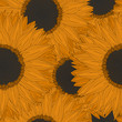Abstract  sunflowers pattern