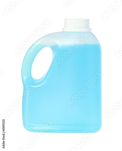 Gallon of shampoo isolated on white background