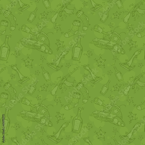 Military seamless pattern for Victory Day or defender of Fatherl