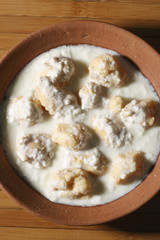 Dahi Vada - A savoury snack which floats in curd