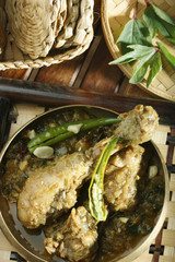 Gongura chicken - A spicy chicken curry