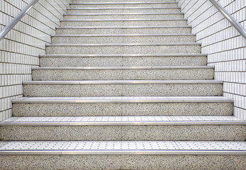 white stair concrete
