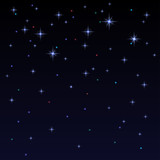 Holiday background with shiny stars in the dark sky. Starry sky.