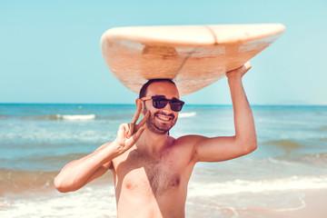 Funny surfer