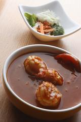 Caril de tomato – Tomato and prawn curry