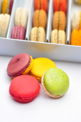 French macaroons .Dessert