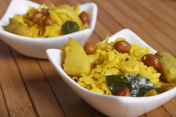 Poha – A snack made of beaten rice