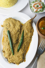 Doi ilish – Hilsa or Ilish Mach is a popular fish dish from east