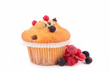muffin and berries