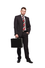 relaxed businessman wiht briefcase © All king of people