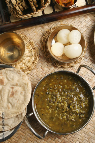 Khalo dal – a common dal prepared from black gram.