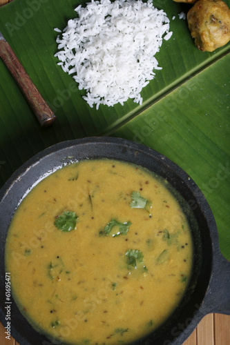 Pithale - Chickpea flour curry