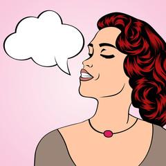 Pop art illustration of a woman
