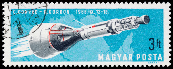HUNGARY - CIRCA 1966: stamp printed by Hungary, shows Manned Spa
