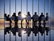 Silhouette of Business Meeting - 61696414