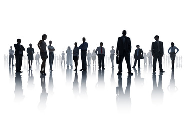 Diverse Business People on White Background