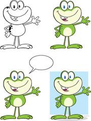 Frog Cartoon Mascot Character 1  Collection Set