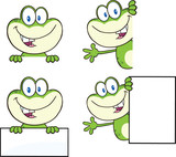Frog Cartoon Mascot Character 18  Collection Set