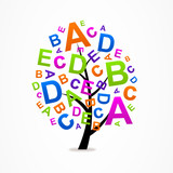 logo business abstract tree letters ABC