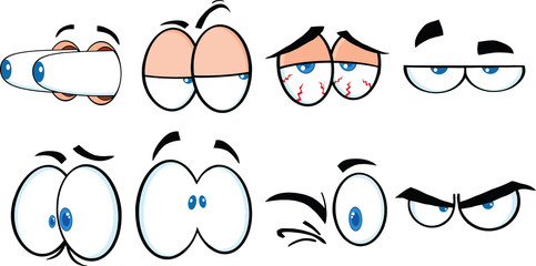 Cartoon Eyes 2  Vector Collection Set