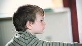 Little boy profile, shallow depth of field