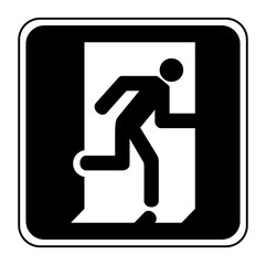 Logo sortie de secours.