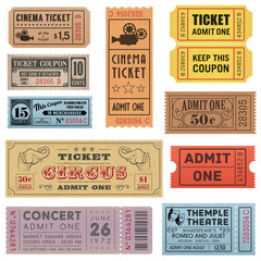 Grunge Tickets Collection 1