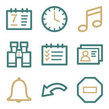 Organizer web icons, two color series