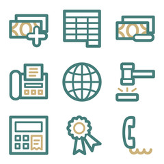Finance web icons, two color series
