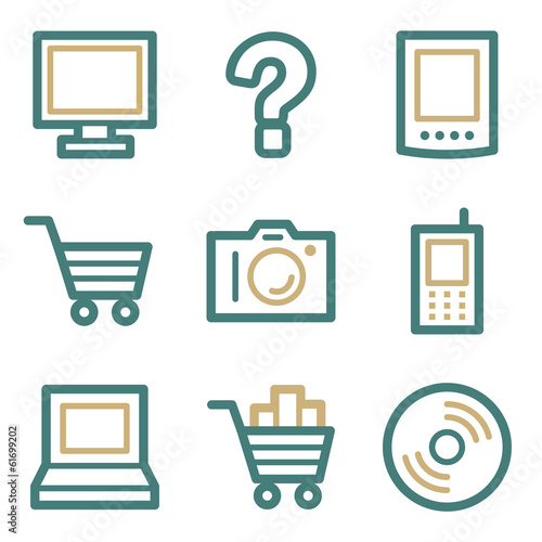 Electronics web icons, two color series