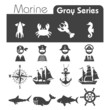 Marine Icons Gray series