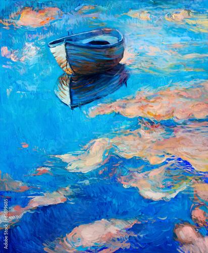 Obraz na Plexi Boat at sea