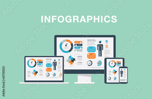 Infographics in modern flat vector illustration