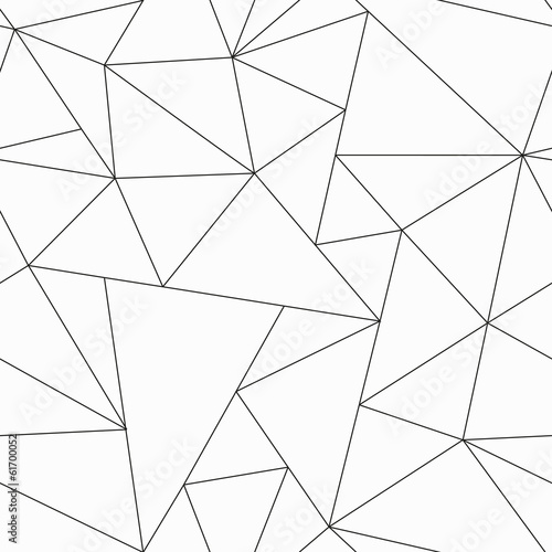 monochrome triangle seamless pattern - 61700052