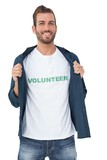 Portrait of a smiling young male volunteer