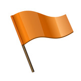 Orange Curl Flag Icon
