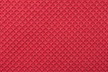 Coral Red Fine Cotton Textile Close Up Details